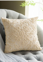 Junwell Sofa Throw Pillows 20 x 20 inch Cotton All-over Embroidery Geometric Circles Accent Decorative Pillow Cushions