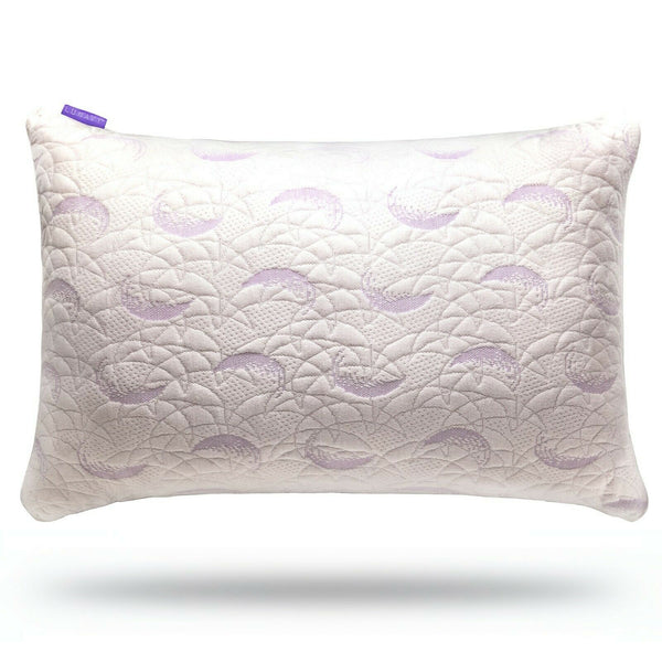 ▶ Shredded Memory Foam Pillow Adjustable Fit Washable Bamboo Cover Queen Size