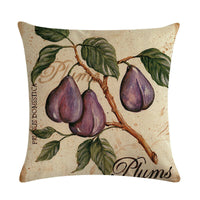 "18"" Decorative Cojines Fall Throw Pillow Covers Fruit Grape Rustic Cushion Case"