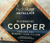Hydraluxe Copper Cooling Gel Memory Foam Pillow (D69-1129)