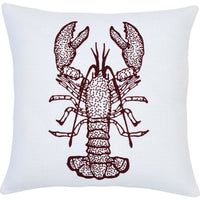 VHC Lobster Print Throw Pillow Cover Case Decorative Accent Sofa Square 18x18