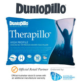 DUNLOPILLO Therapillo Cooling Gel Memory Foam Medium Profile Bed Pillow GENUINE