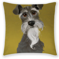 "18"" Dog Linen Decor Cotton Throw Pillow Case Sofa Cushion Cover Car Pillowcases"