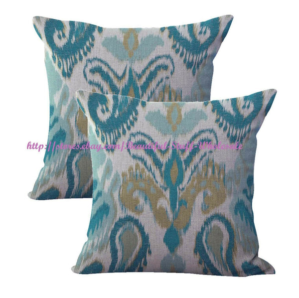 2pcs ikat accent cushion cover wholesale throw pillow covers