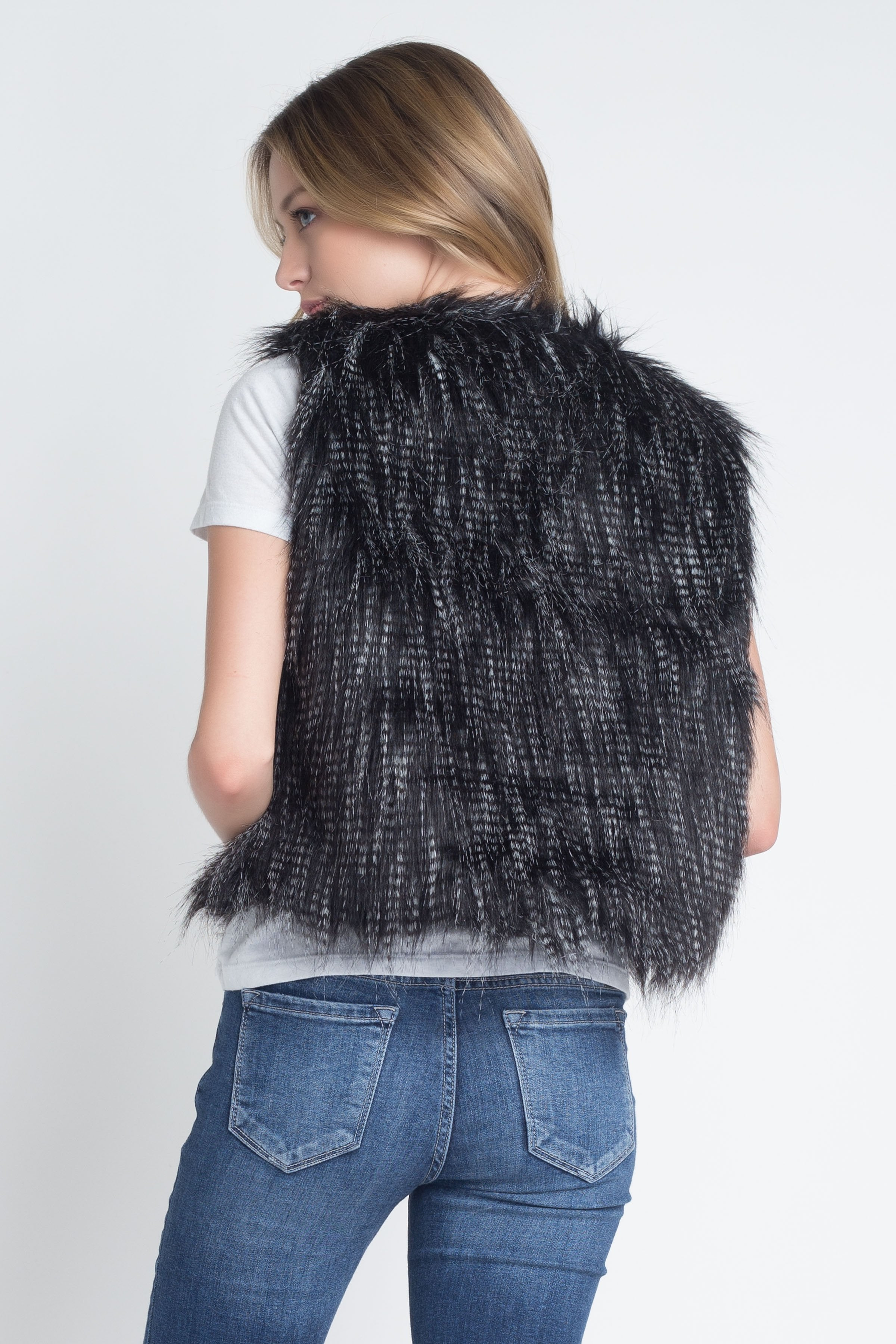 Women's Faux Fur Sleeveless Vest