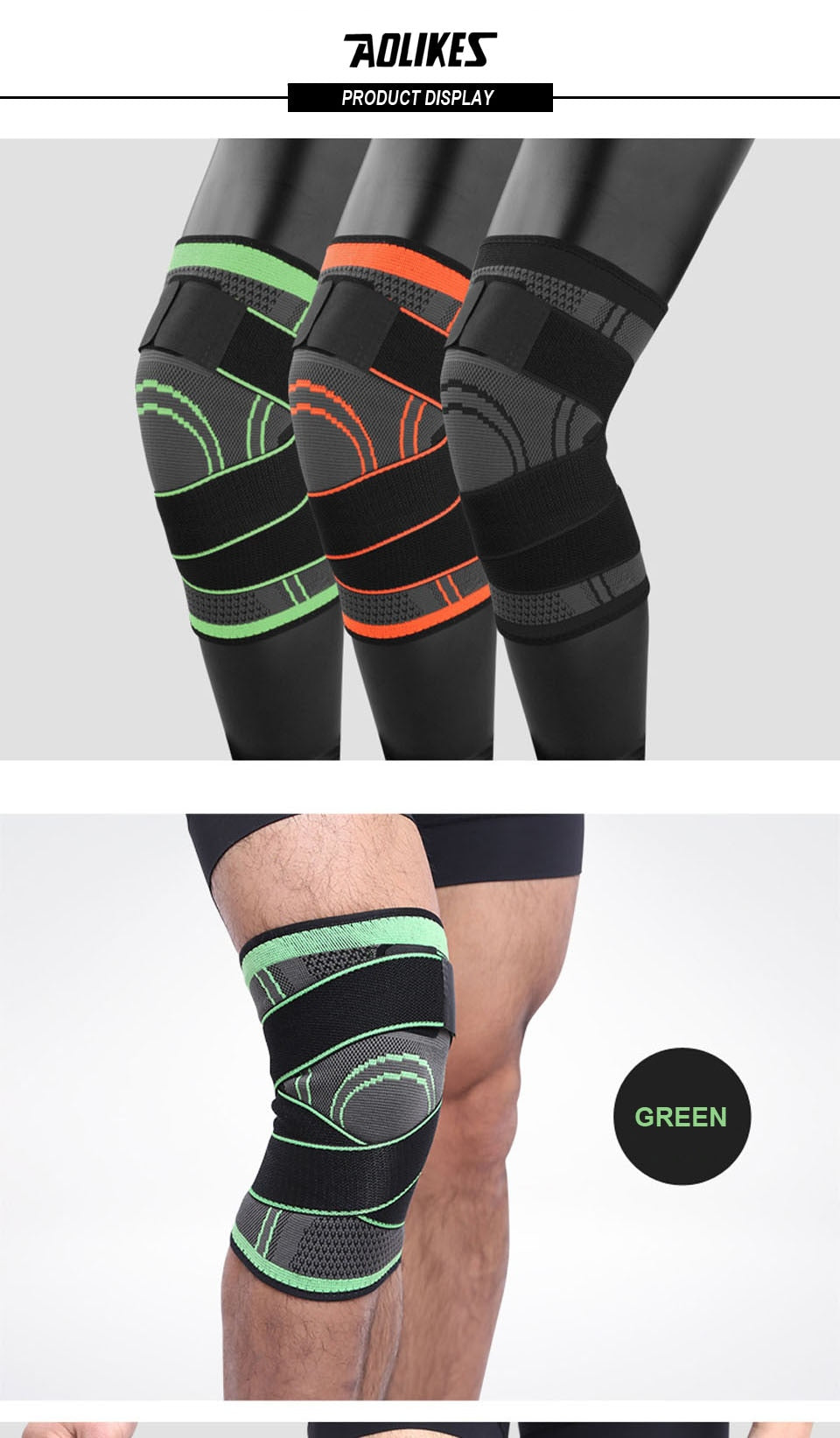 U-Strength Knee Support Wraps