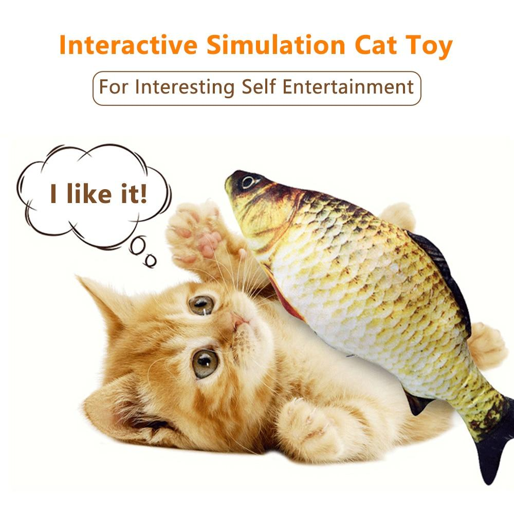Cat Toy Electric Wagging Fish Simulation Fish Kitten Chewing Biting