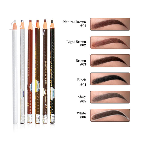 Waterproof Pull Eyebrow Pencil-6 Colors