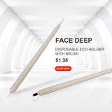 Face Deep Disposable Eco-holder with Brush (1piece)