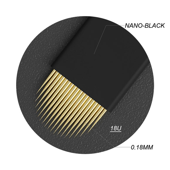 0.18mm Nano Golden Luxury Microblade