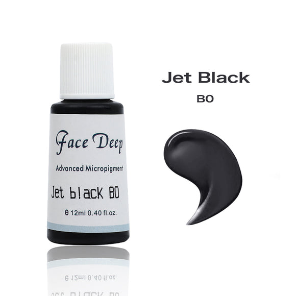 Face Deep Semi Cream Pigments for Eyebrow (B0 Jet Black)