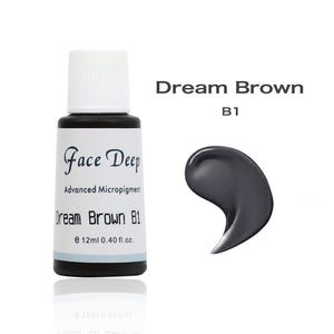 Face Deep Semi Cream Pigments for Eyebrow (B1 Dream Brown)