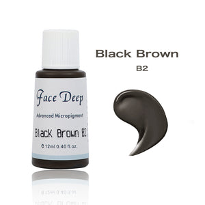 Face Deep Semi Cream Pigments for Eyebrow (B2 Black Brown)