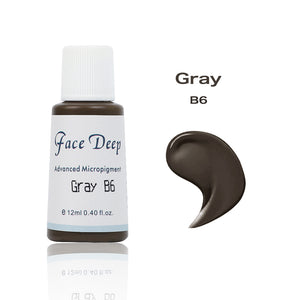 Face Deep Semi Cream Pigments for Eyebrow (B6 Brown Gray)