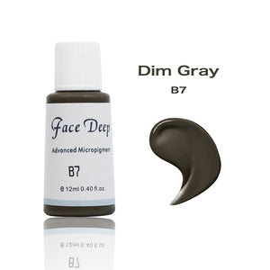 Face Deep Semi Cream Pigments for Eyebrow (B7 Dim Gray)
