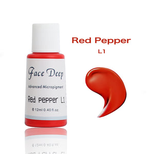 Face Deep Semi Cream Pigments for Lips (L1 Red Pepper)