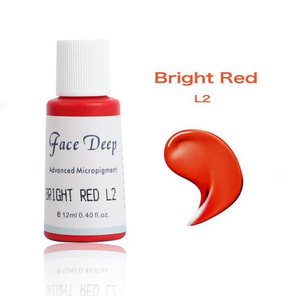 Face Deep Semi Cream Pigments for Lips (L2 Bright Red)