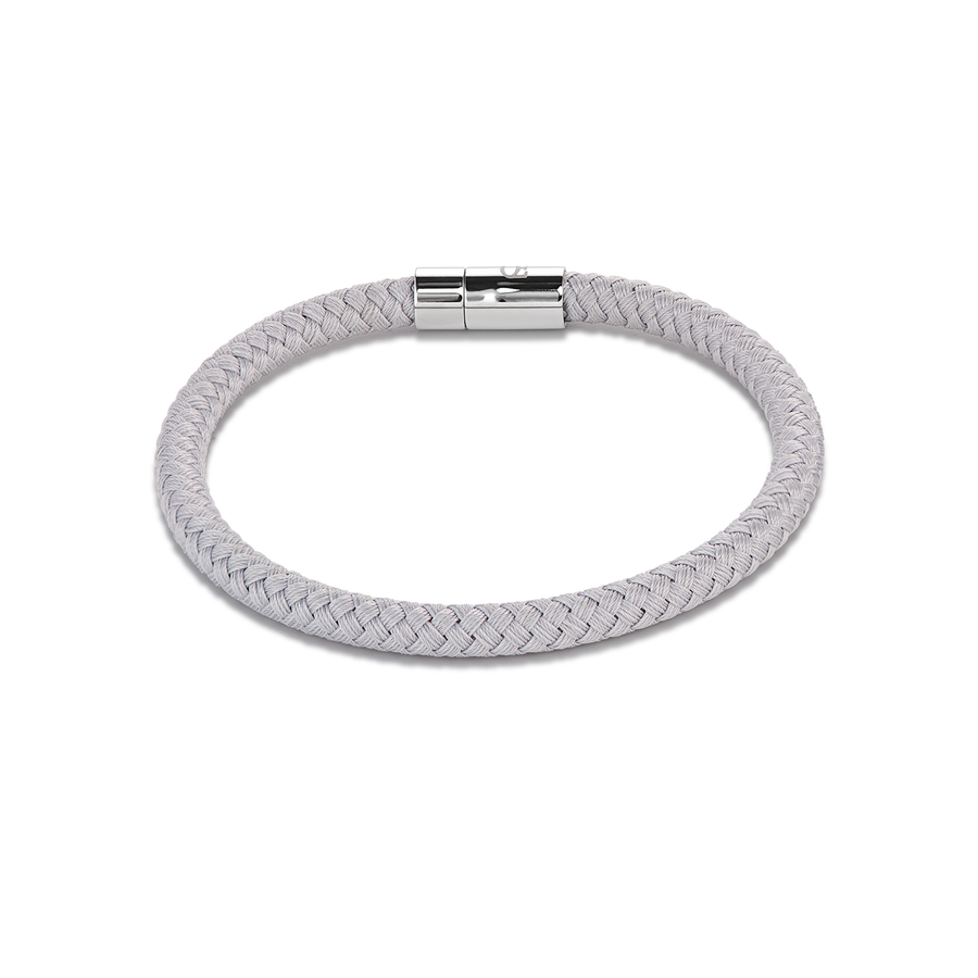 Bracelet textile braided light grey