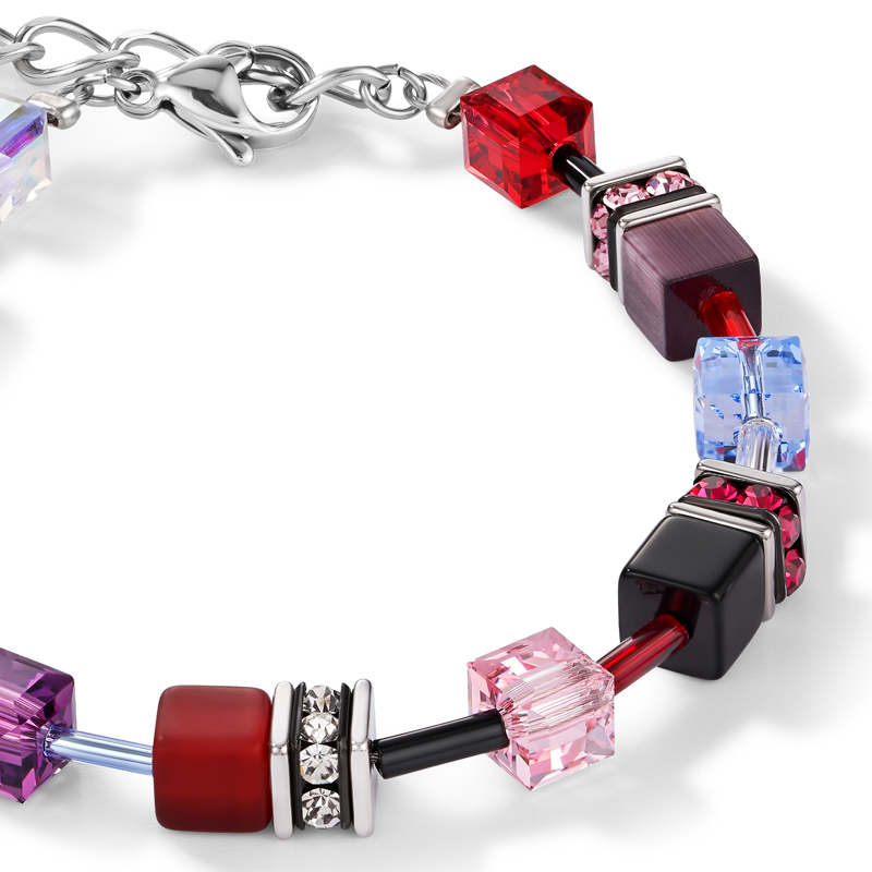 GeoCUBE® Bracelet purple-red-blue
