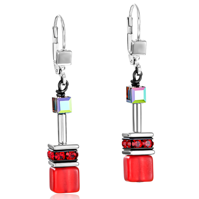 GeoCUBE® Earrings red