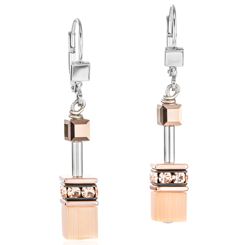 GeoCUBE® Earrings peach