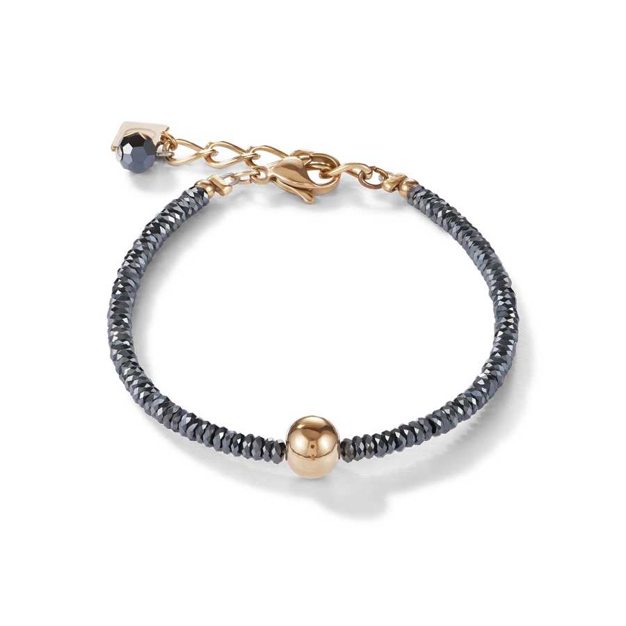 Bracelet haematite & stainless steel rose gold