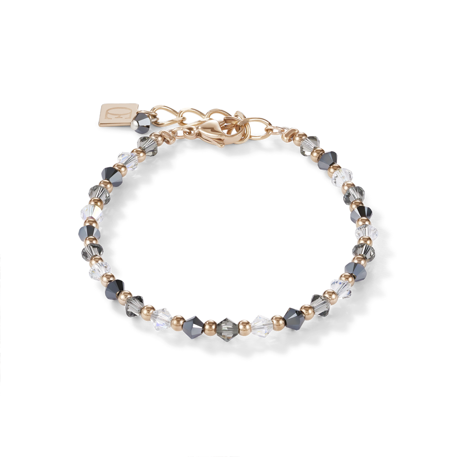 Bracelet Swarovski® Crystals & stainless steel rose gold-grey