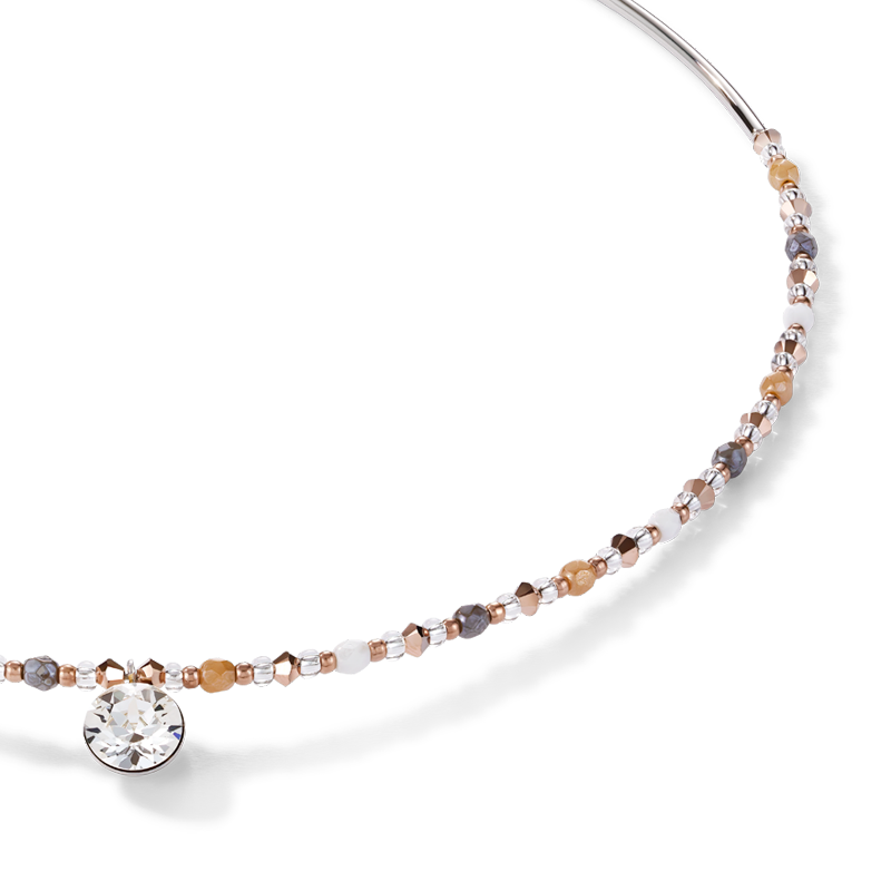 Necklace Swarovski® Crystals & stainless steel multicolour nature
