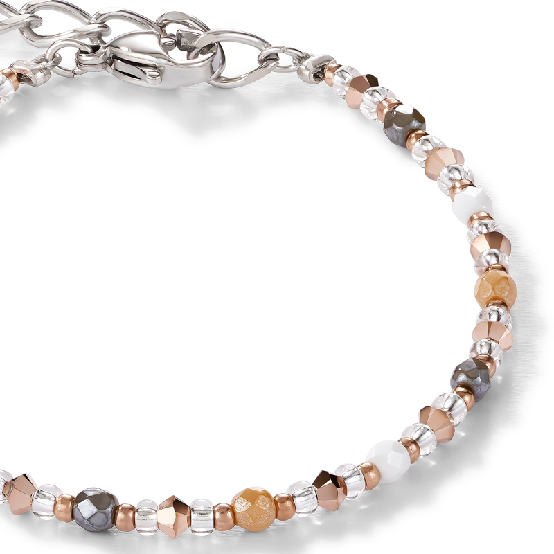Bracelet Swarovski® Crystals & stainless steel multicolour nature