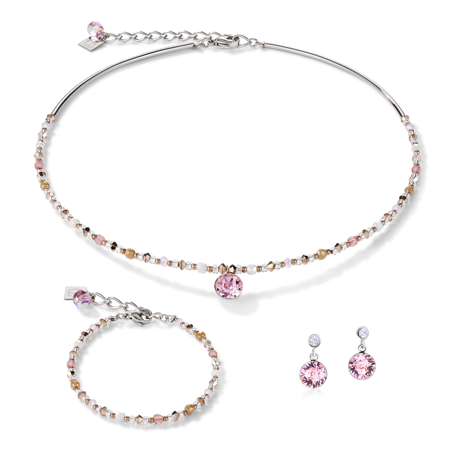 Bracelet Swarovski® Crystals & stainless steel light rose