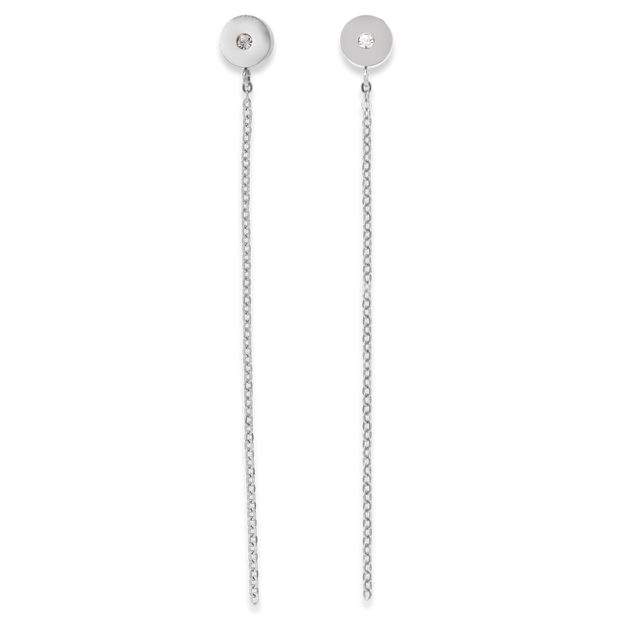 Earrings SparklingCOINS stainless steel silver