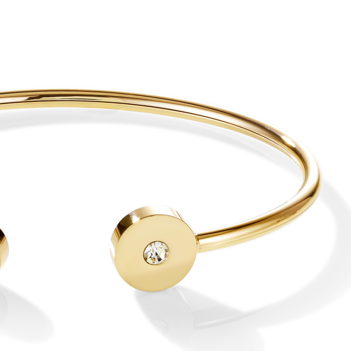 Bangle SparklingCOINS stainless steel gold