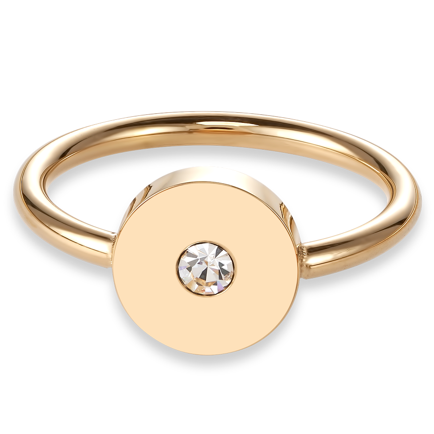 Ring SparklingCOINS stainless steel gold