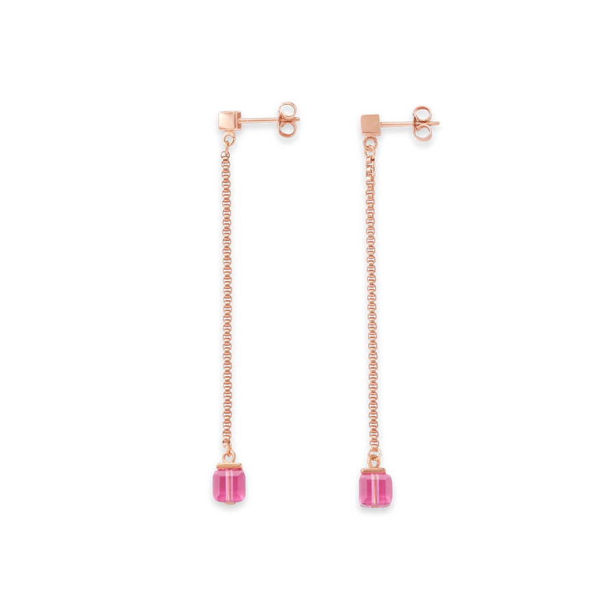 Earrings Stainless Steel rose gold & Swarovski® Crystals rose