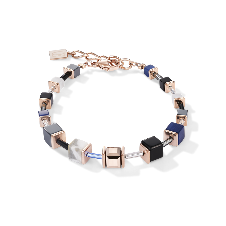 Bracelet GeoCUBE® blue-rose gold