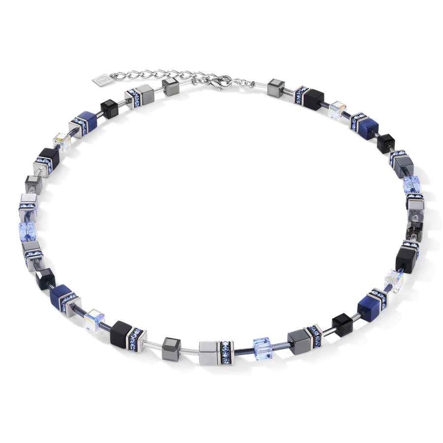 Necklace GeoCUBE® medium blue