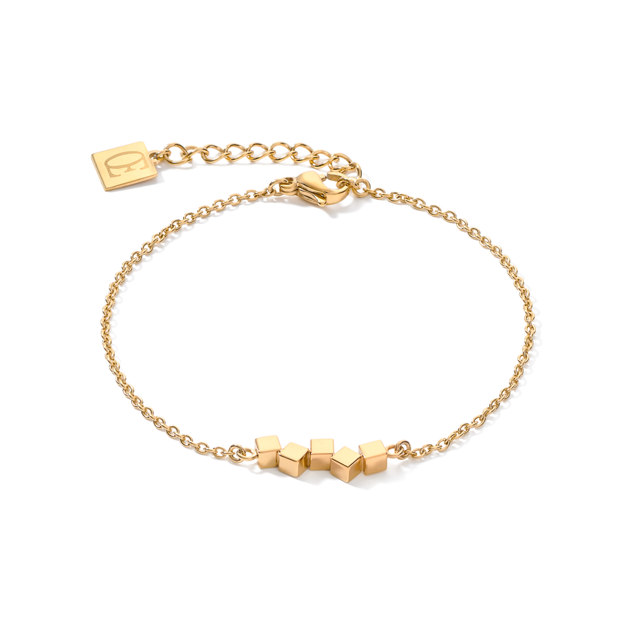 Bracelet Dancing GeoCUBE® small stainless steel gold