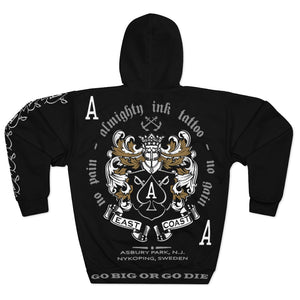 Almighty Ink No Pain Unisex Getting Pulled-over Hoodie