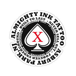 Almighty Ink Red X sticker