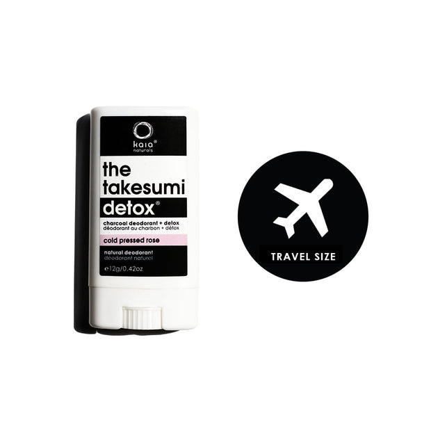 Cold Pressed Rose Charcoal Deodorant - Travel Size