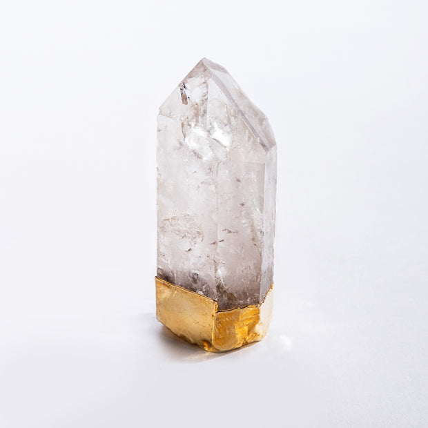 Gold Gilded Standing Quartz Points