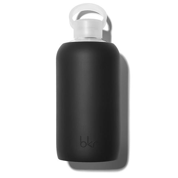 1L Glass Water Bottle - Jet