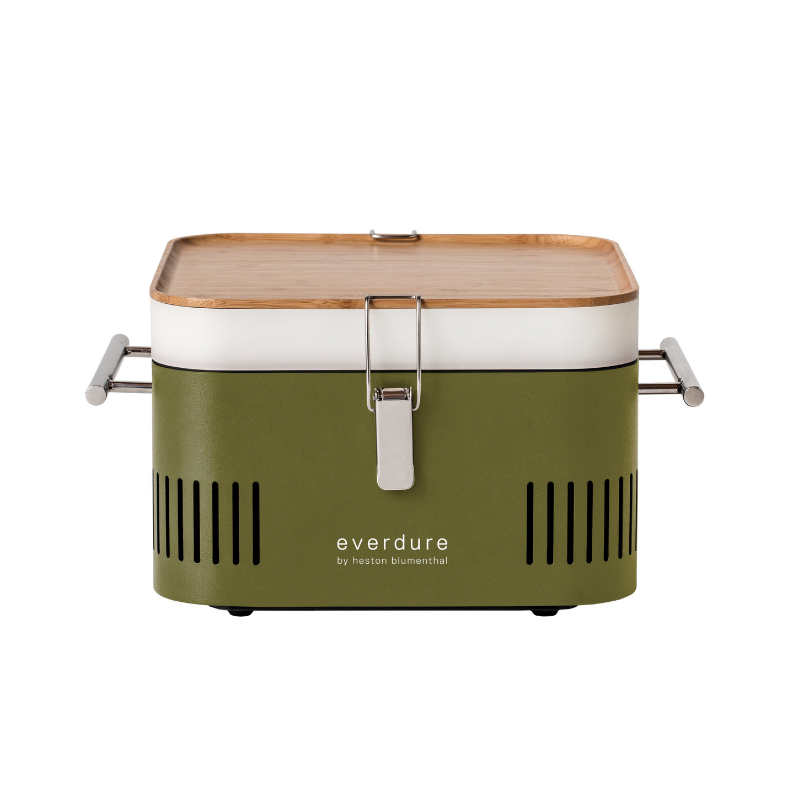 Houtskoolbarbecue Cube van Everdure by Heston Blumenthal. Handig voor in het park, op het strand of in de camper of caravan. My Cool Kitchen is premium specialist in Everdure by Heston Blumenthal.
