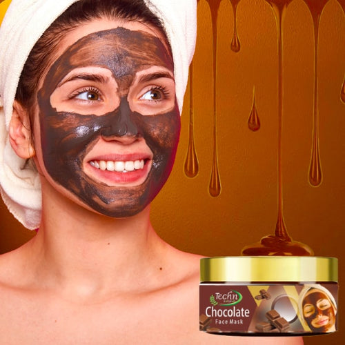 Techn Natural Chocolate Peel Off Mask for Recharging & Rejuvenating Dull Skin - No Parabens, Sulphate, Mineral Oil & Color