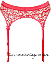 Red frappe Garter-Mimi Holliday