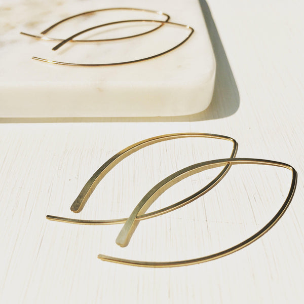 Arcos, Arc Earrings, Handmade Threader Hoop Earrings, Boho Earrings, Gold Hoops, Silver Hoops, Rose Gold Hoops, Wishbone Earrings.