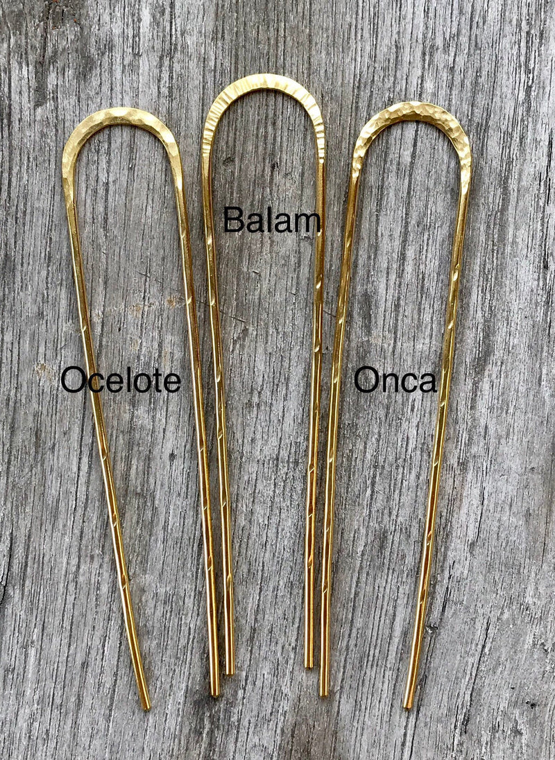 Hair Pin, Brass Hair Pin, Hair Accessories, Hammered Hair Pin, Handmade Hair Pin, Bronze Hair Pin, Bun Pin, Boho Hair Pin.