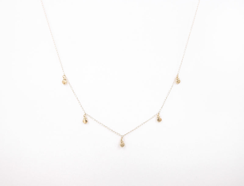 14k solid gold necklace, recycled gold necklace, handmade necklace, dainty necklace, every day necklace, elegant necklace.