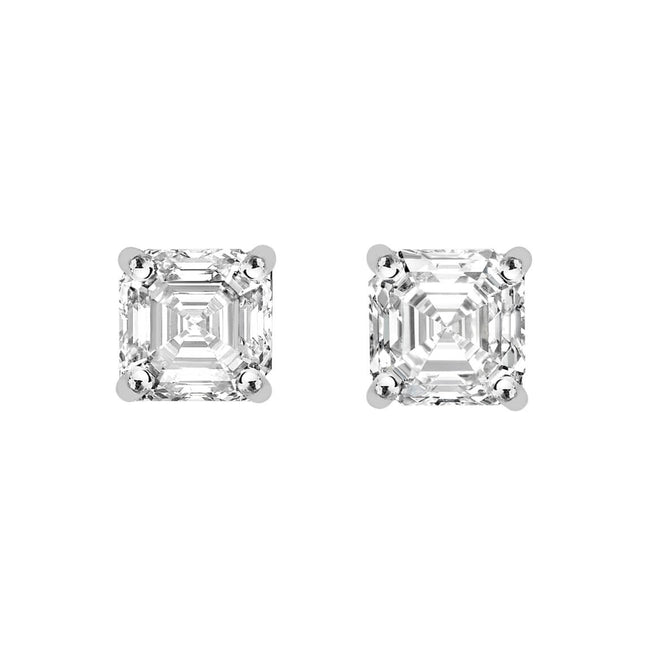 Royal Asscher Cut Diamond 1.82ct Stud Earrings