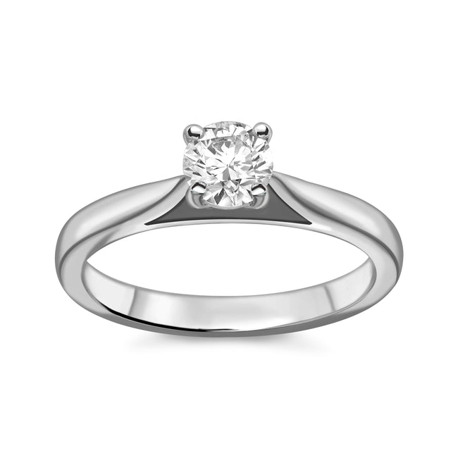 0.42ct Round Brilliant Cut Diamond Ring